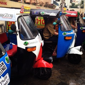 Rickshaws in a row