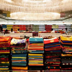 saris at a department store