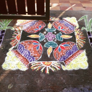 Pongal chalk drawing