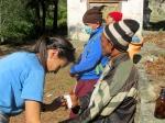 Sonam treating villager