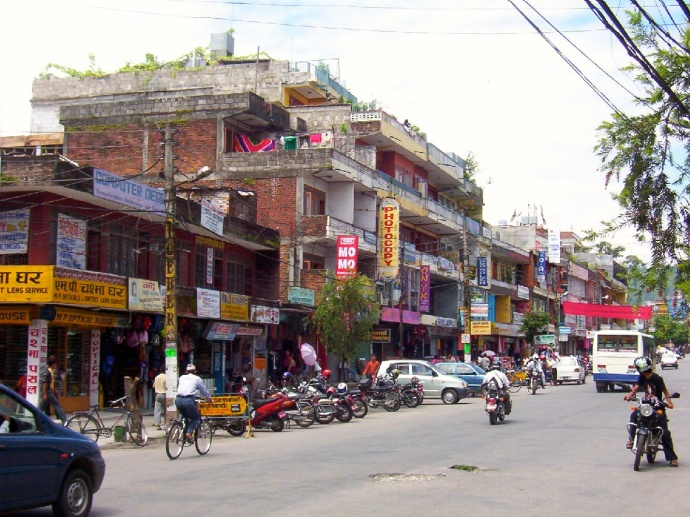 downtown Pokhara