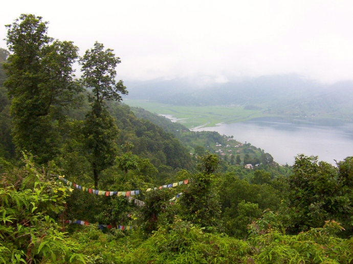 hills above Pokhara