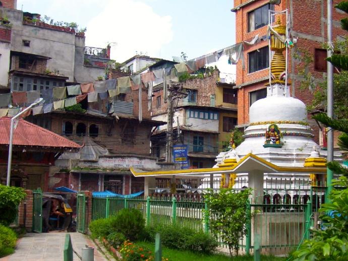 a quiet corner of Kathmandu