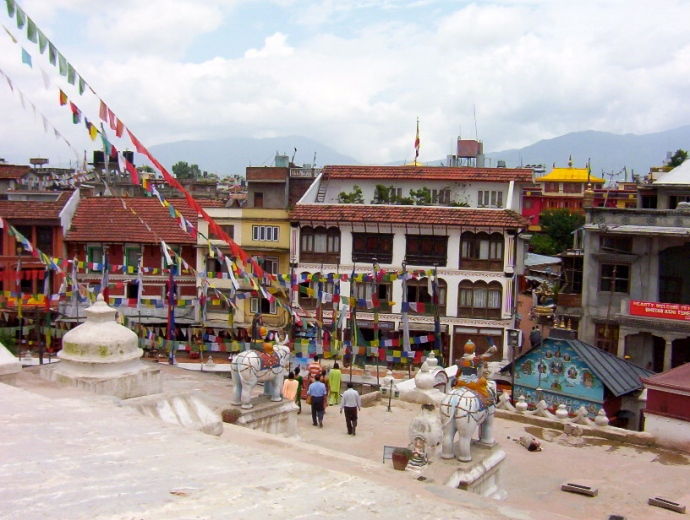 view from Boudhanath